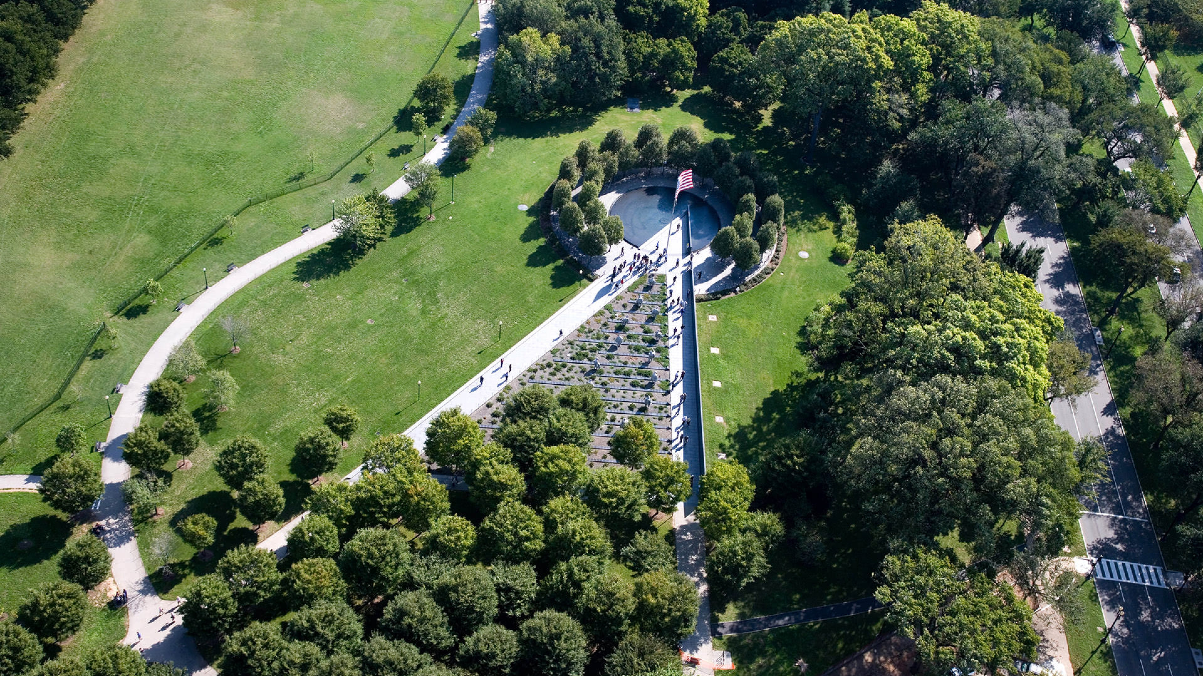 Aerial View of Korean Veteran Memorial