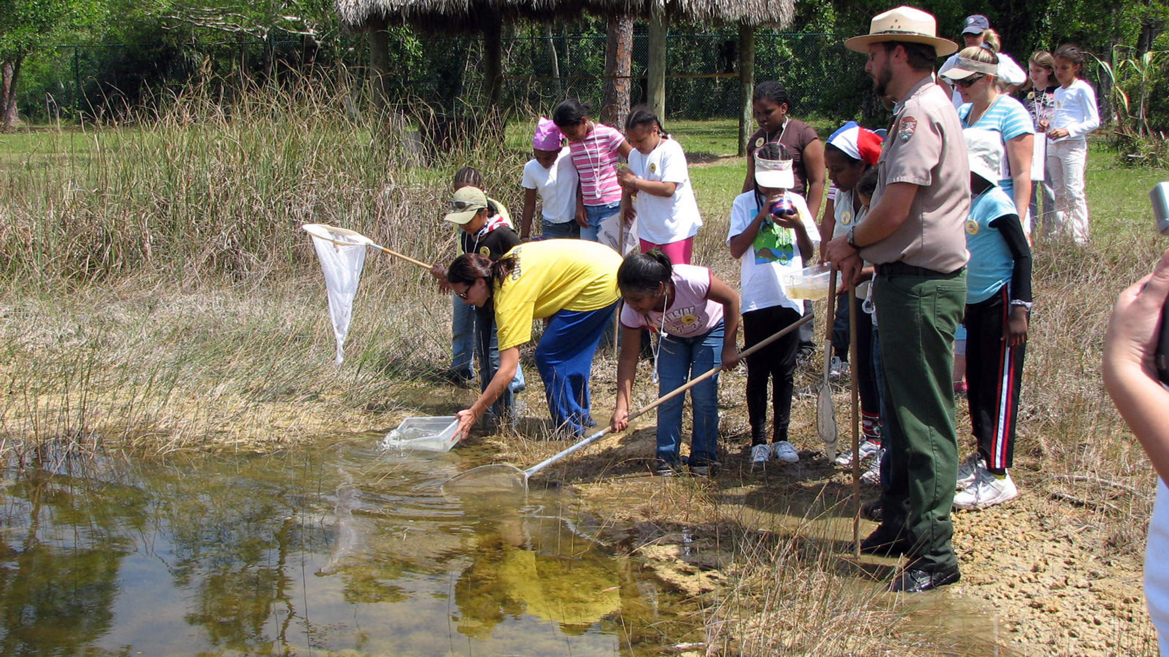 Students from Northboro Elementary in Everglades National Park