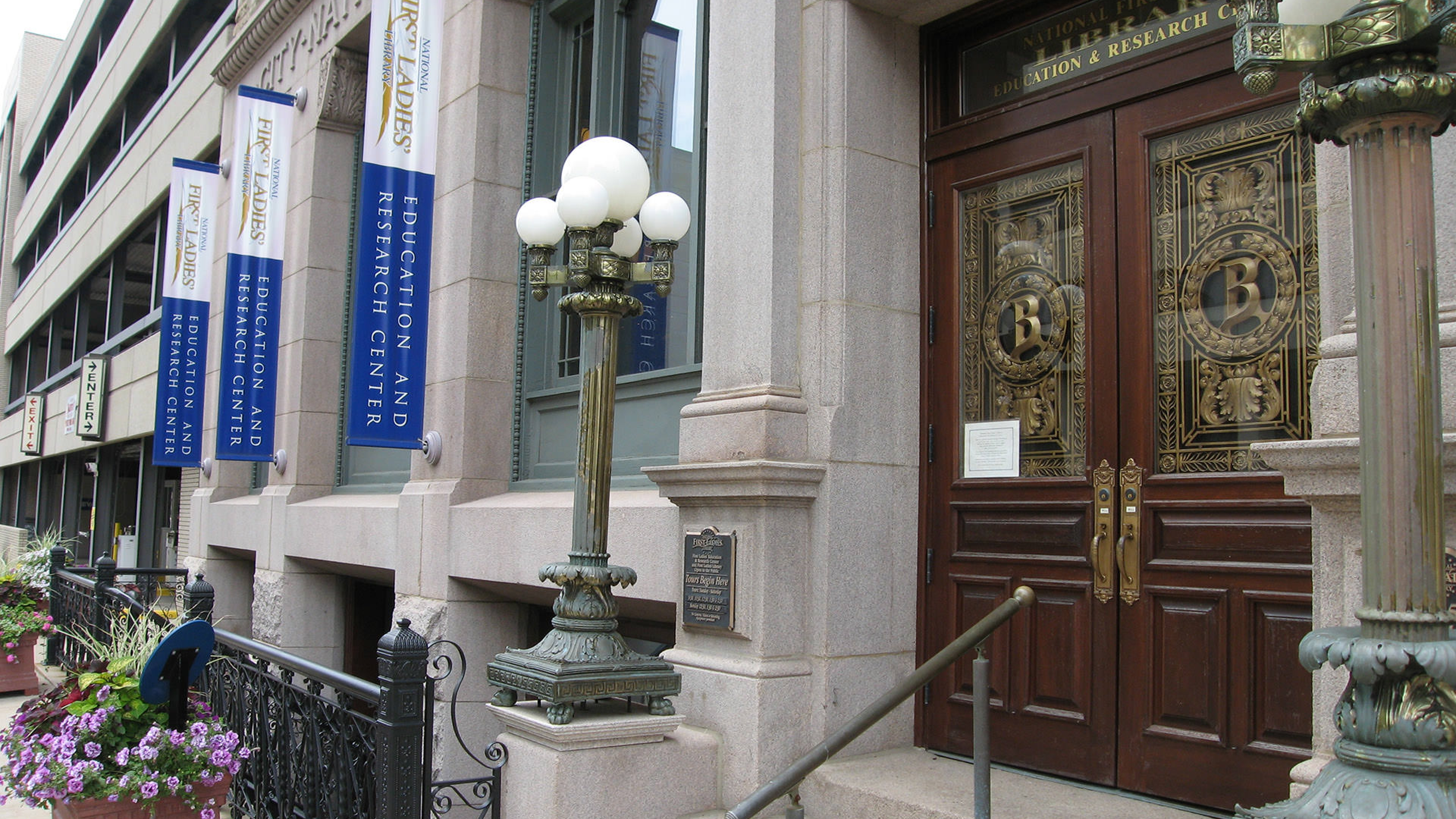 First Ladies National Historic Site main entrance at the 1895 City National Bank Building