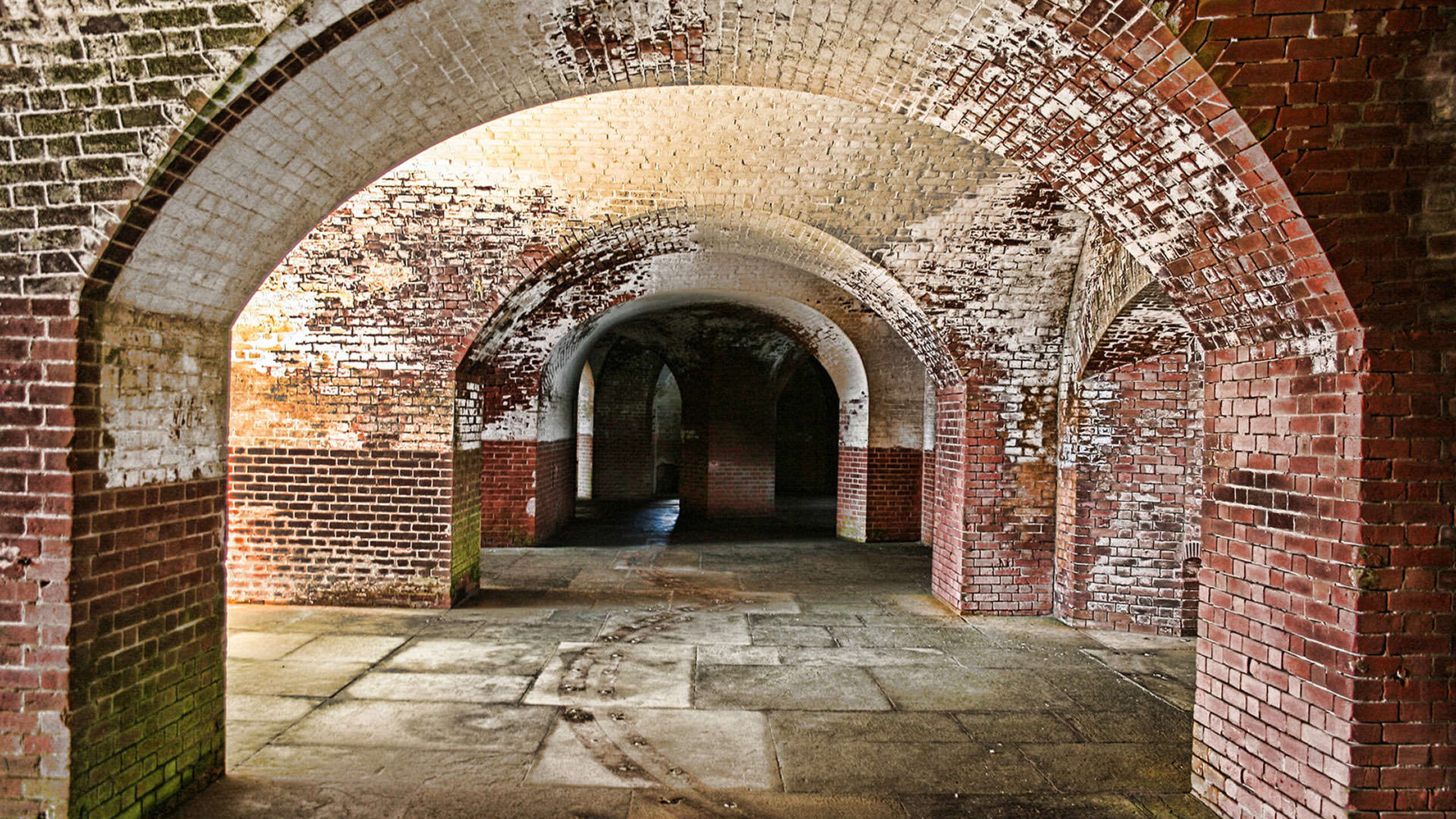 Tunnel system at Fort Point National Historic Site