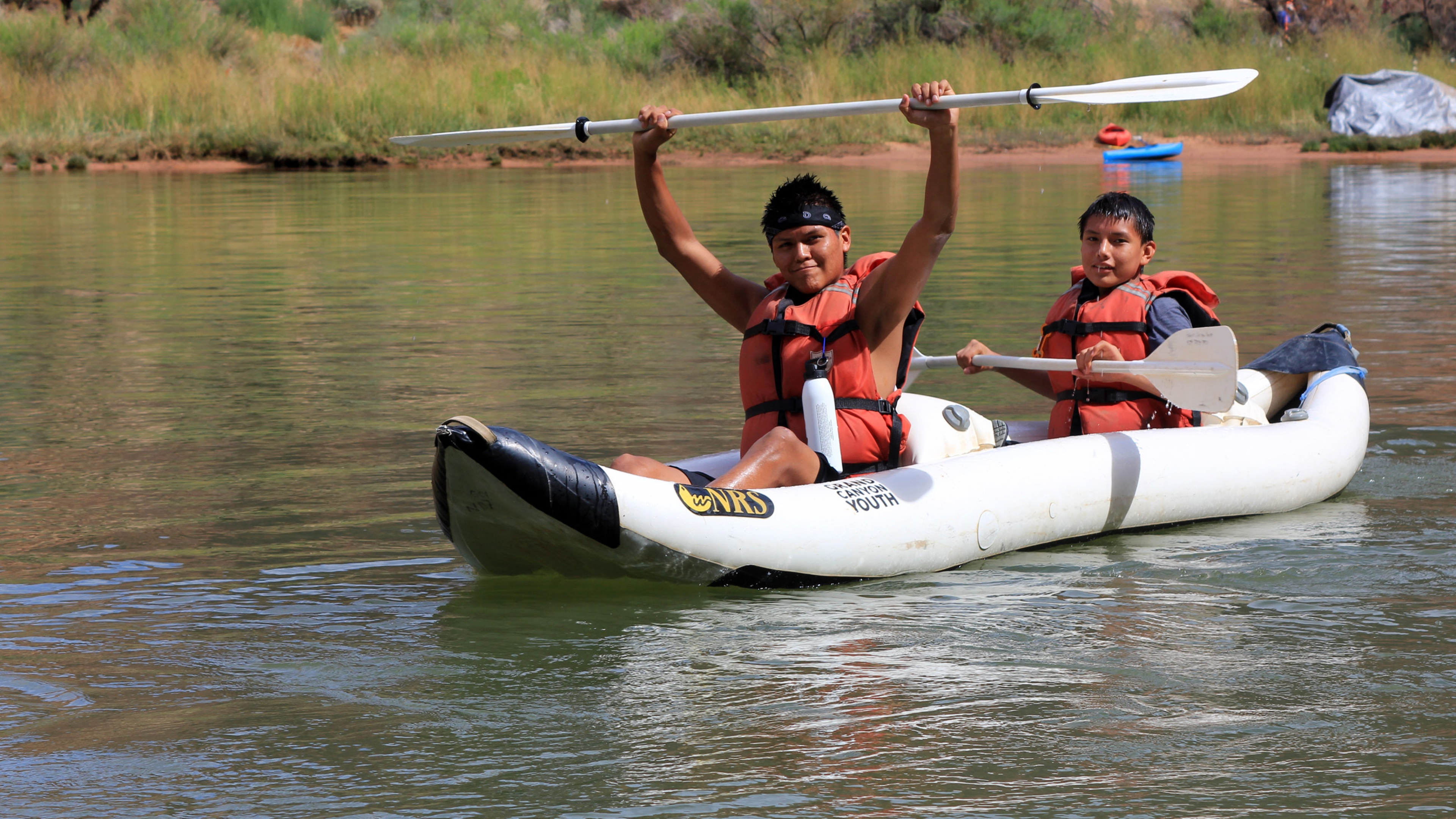 Native American youth in Glen Canyon