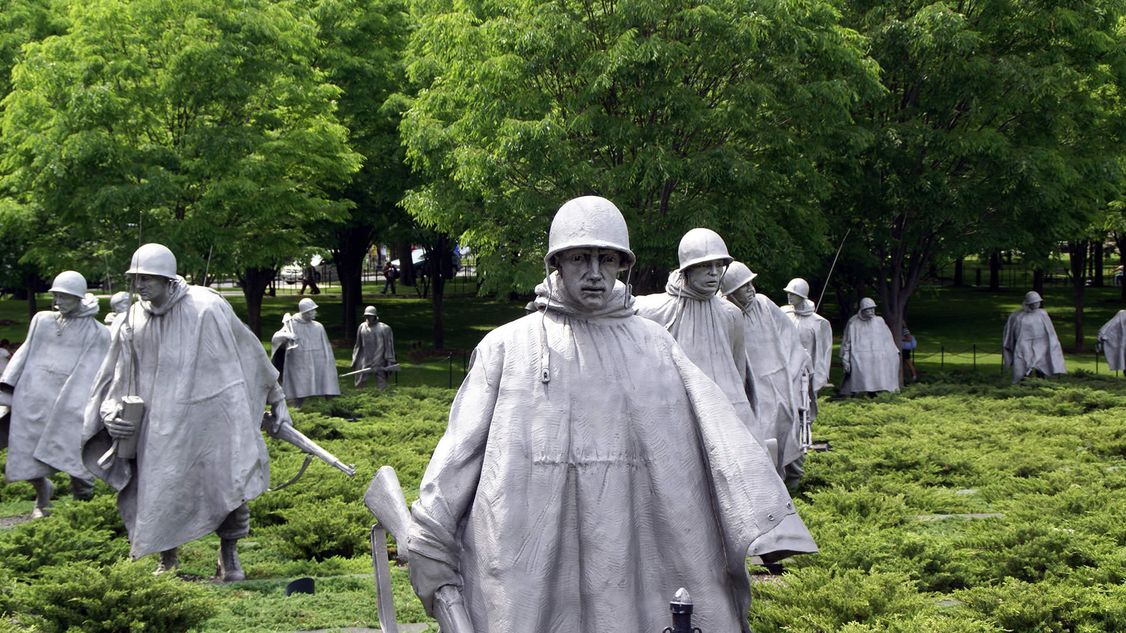 Soldier Statutes at Korean National Memorial