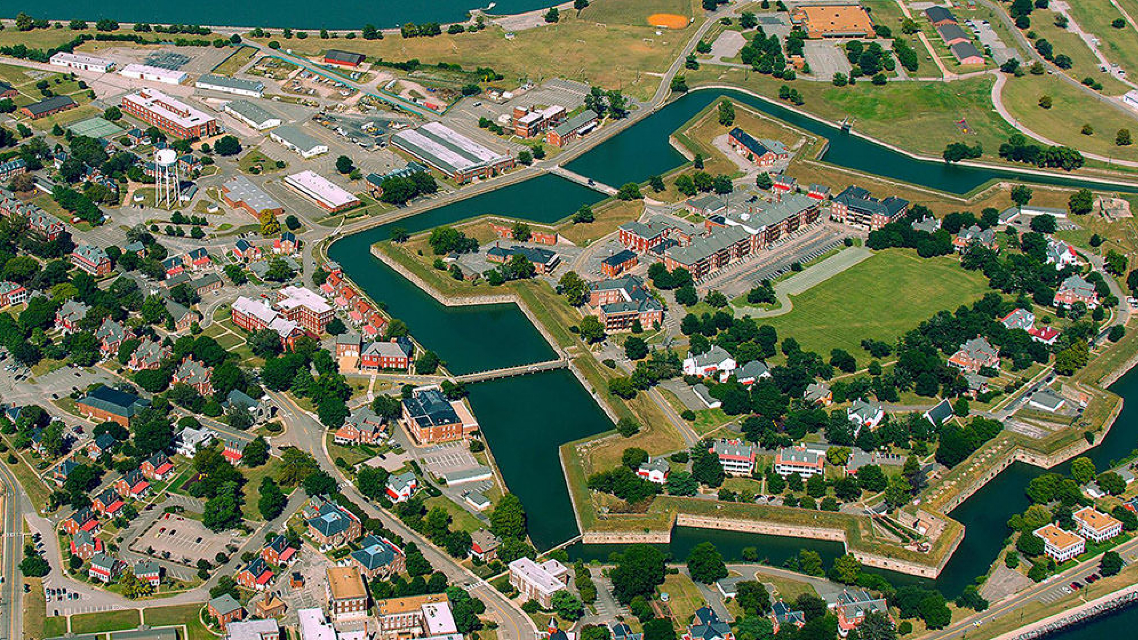 Ariel view of Fort Monroe National Monument