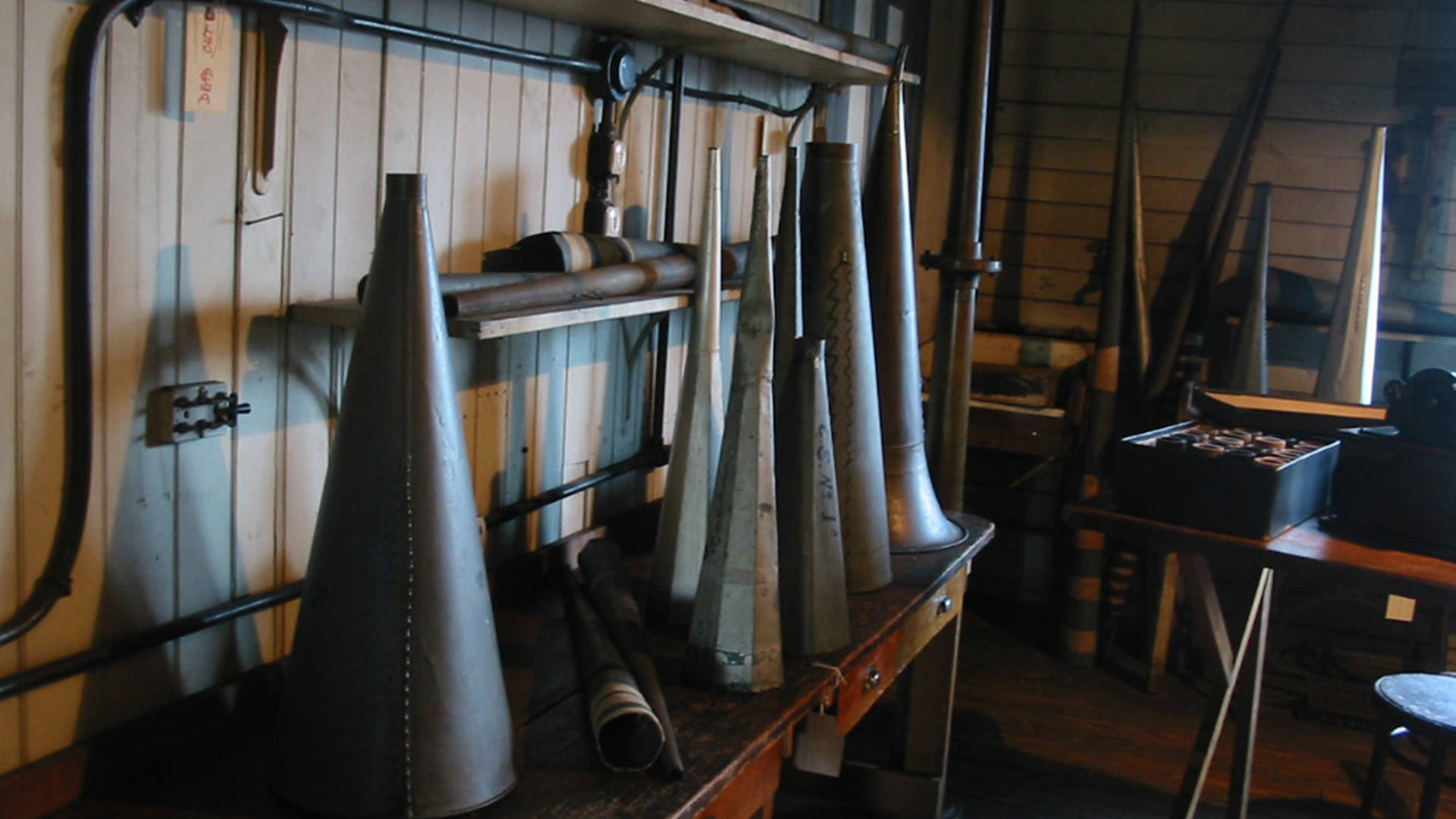 Acoustic horn research room at Thomas Edison National Park