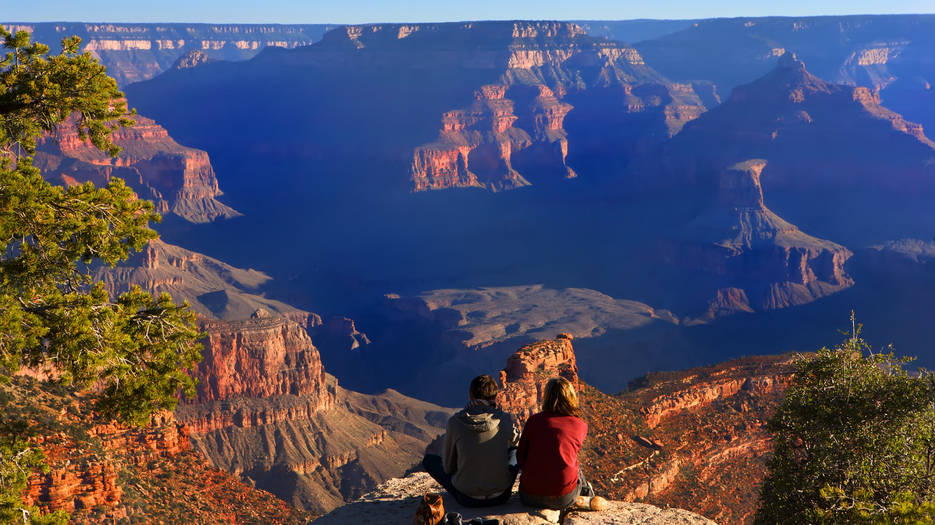 Hikers enjoying the view at Grand Canyon National Park