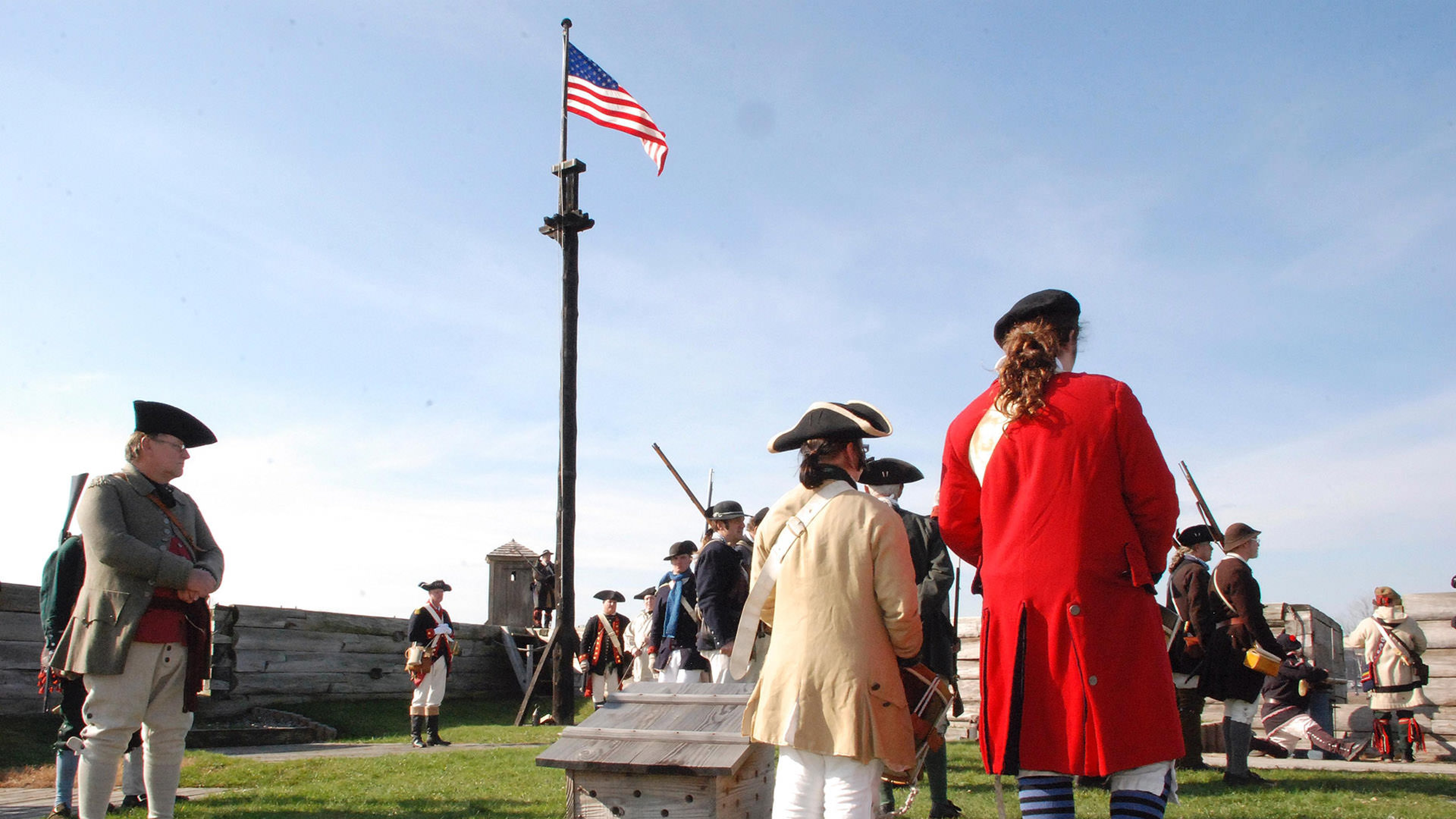 Reenactors at Fort Stanwix National Monument