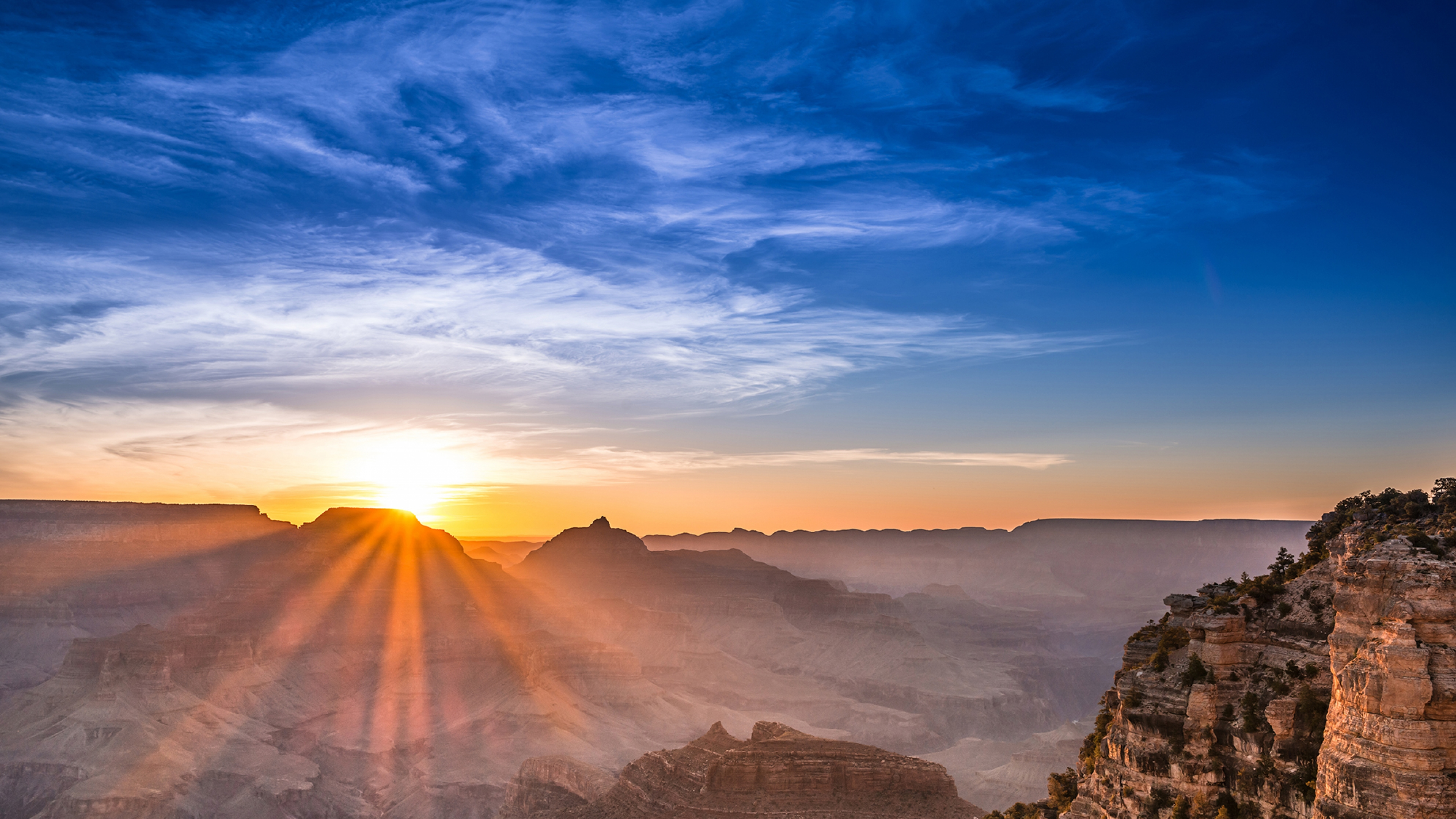 Sun over Grand Canyon National Park