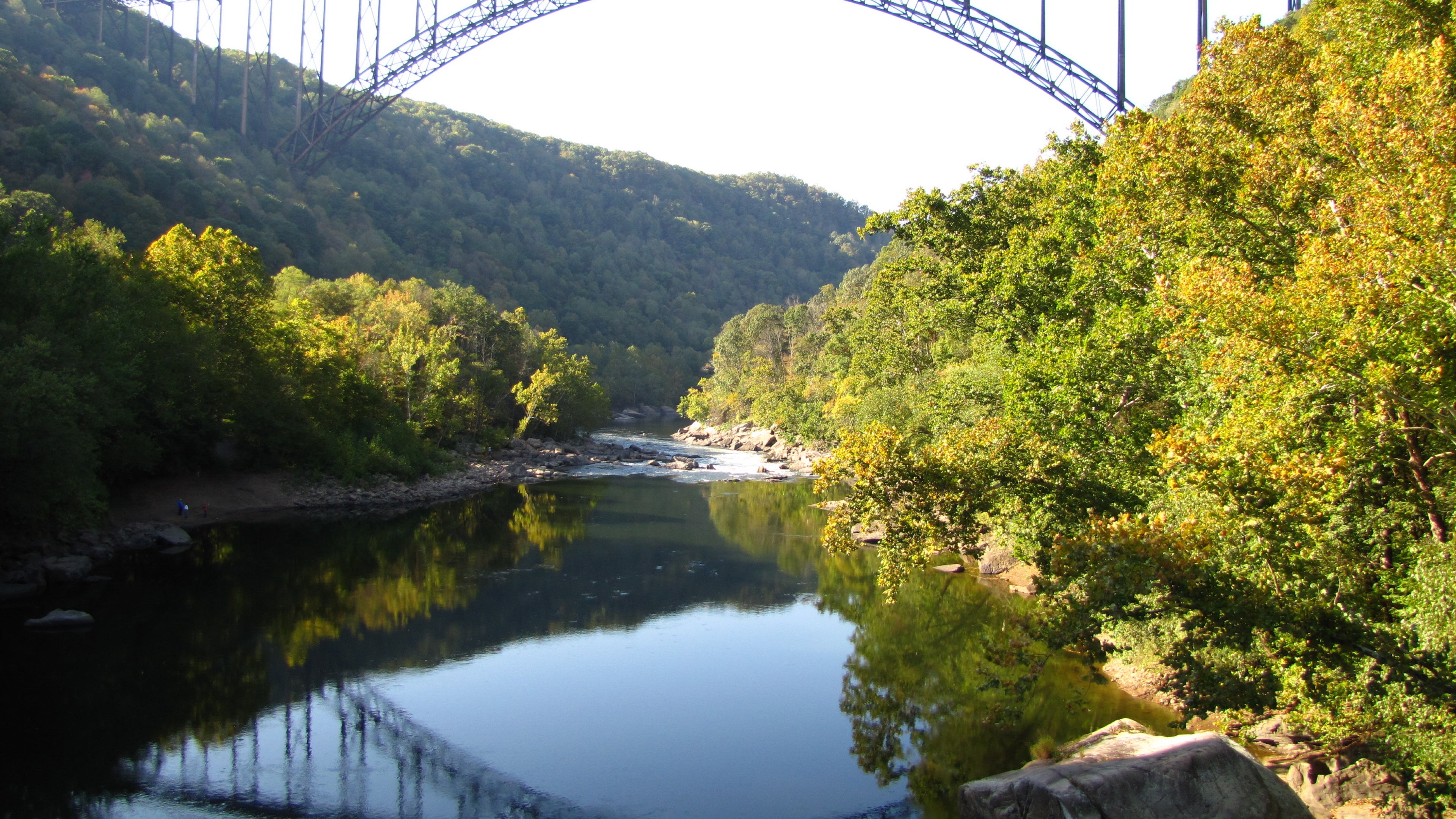 Tall bridge over the New River Gorge river