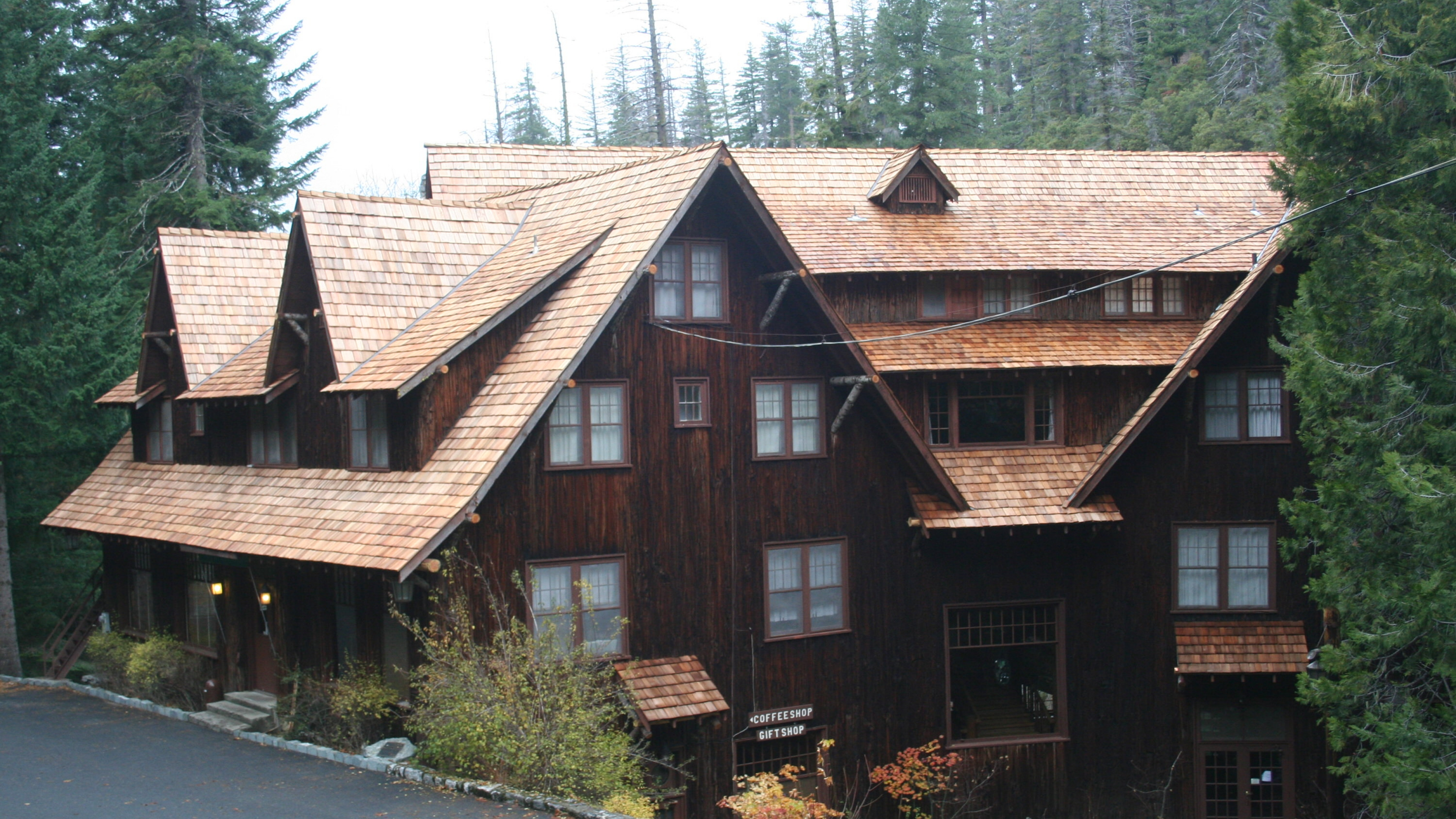 The wooden Chateau at Oregon Caves National Monument & Preserve