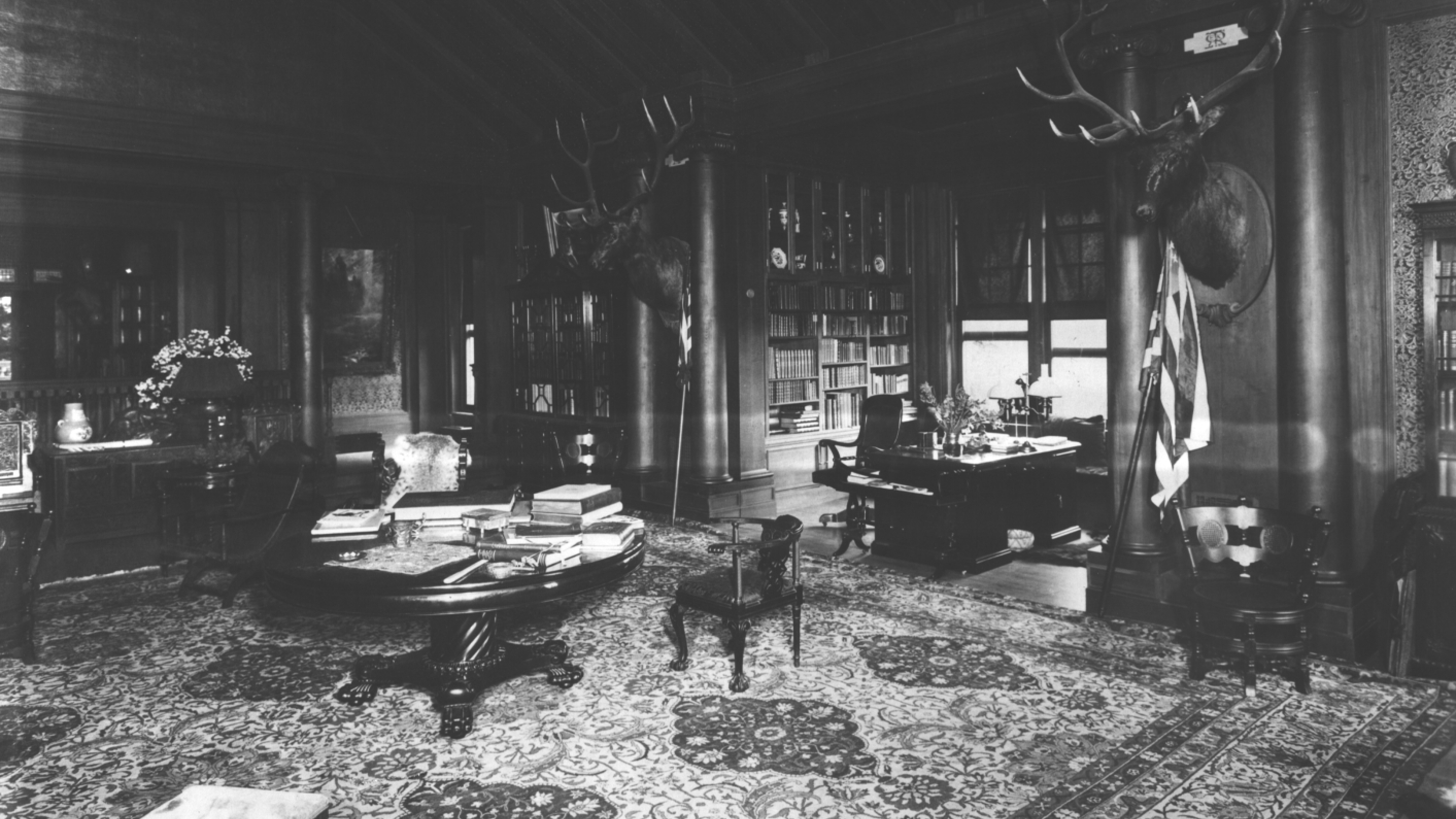 Inside the North Room at Sagamore Hill National Historic Site
