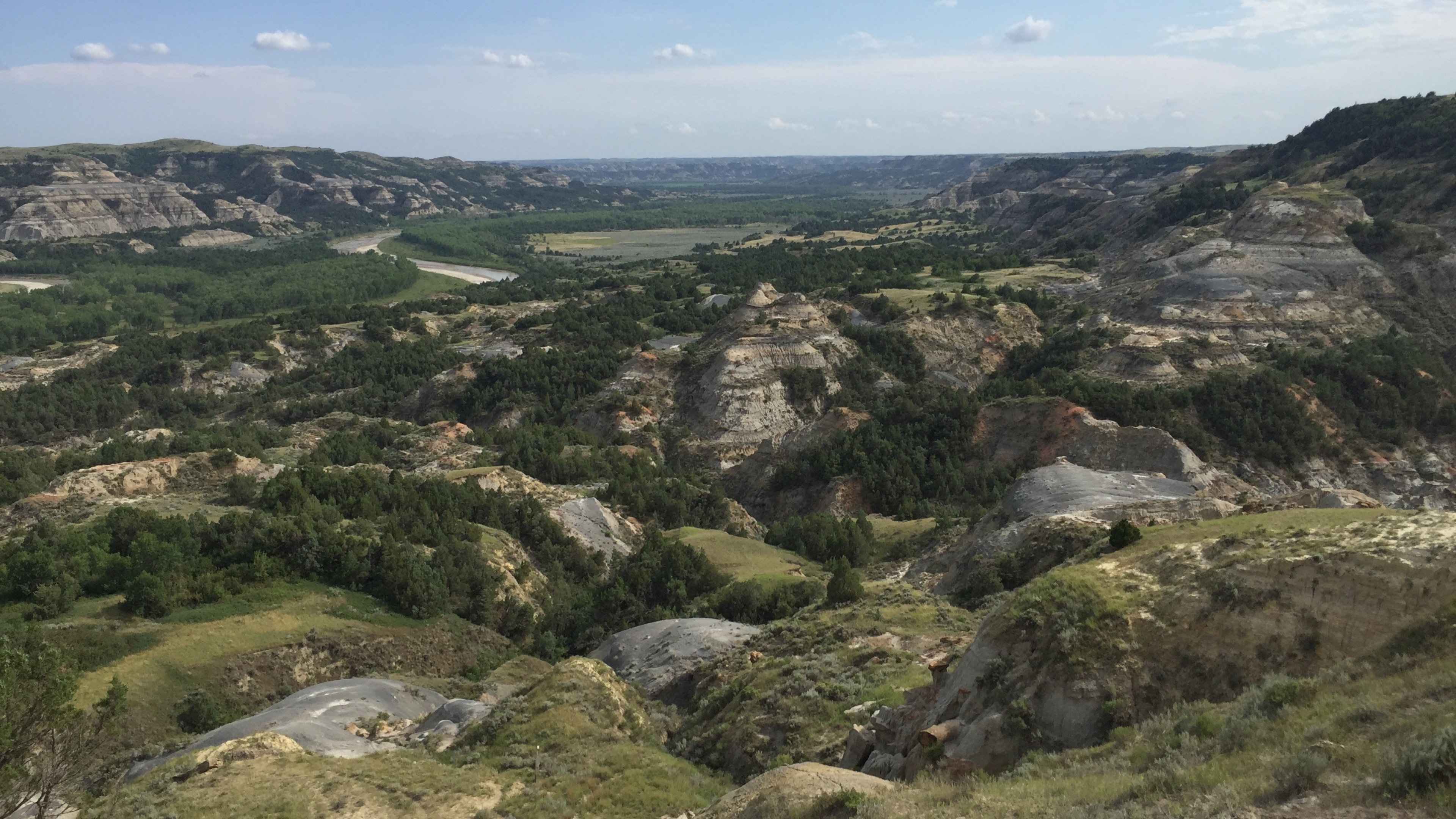 View of Theodore Roosevelt National Park