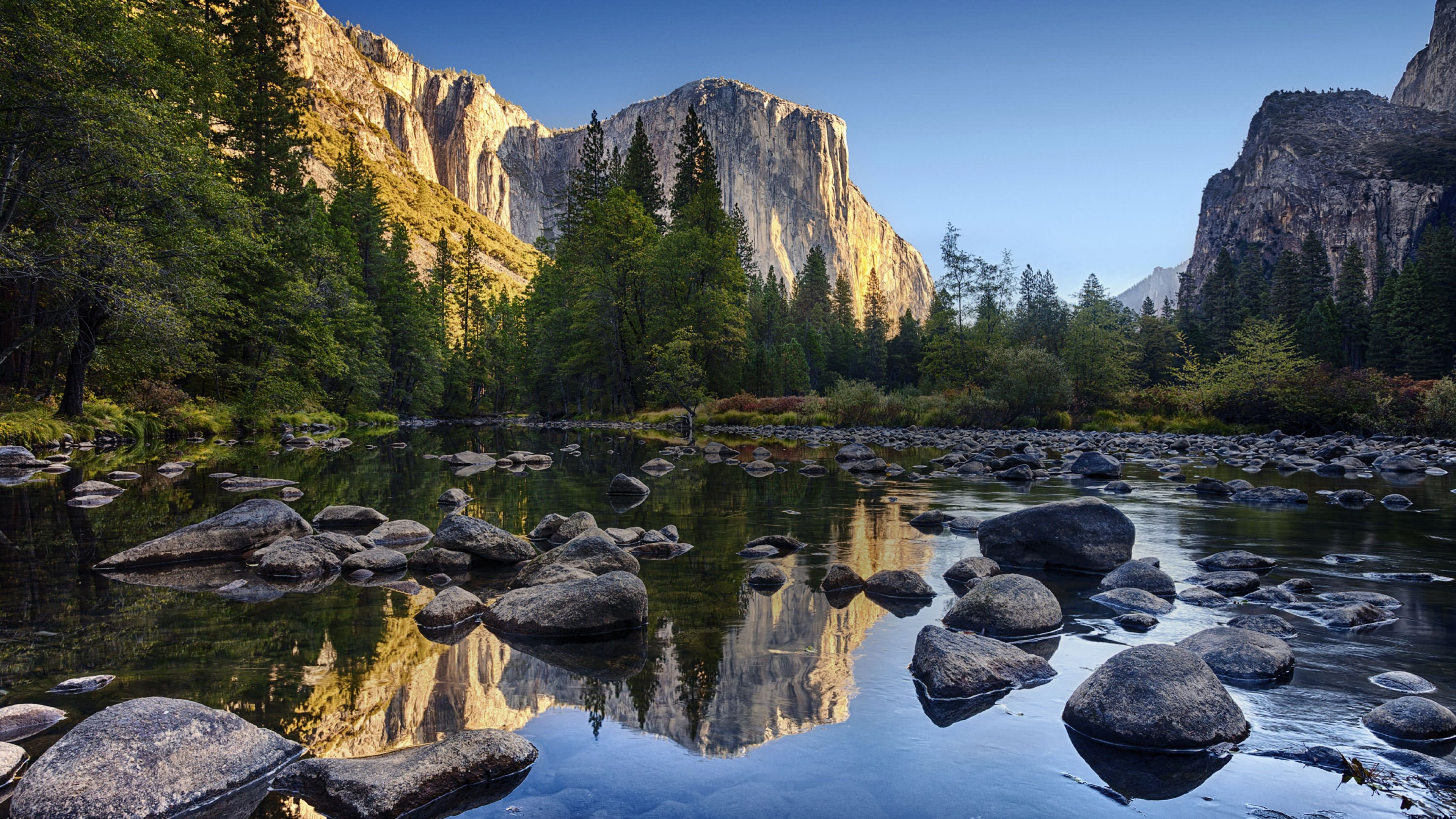 Along the Merced river in Yosemite National Park