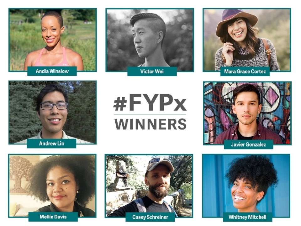 A photo of the winners of the 2015 Find Your Park Expedition