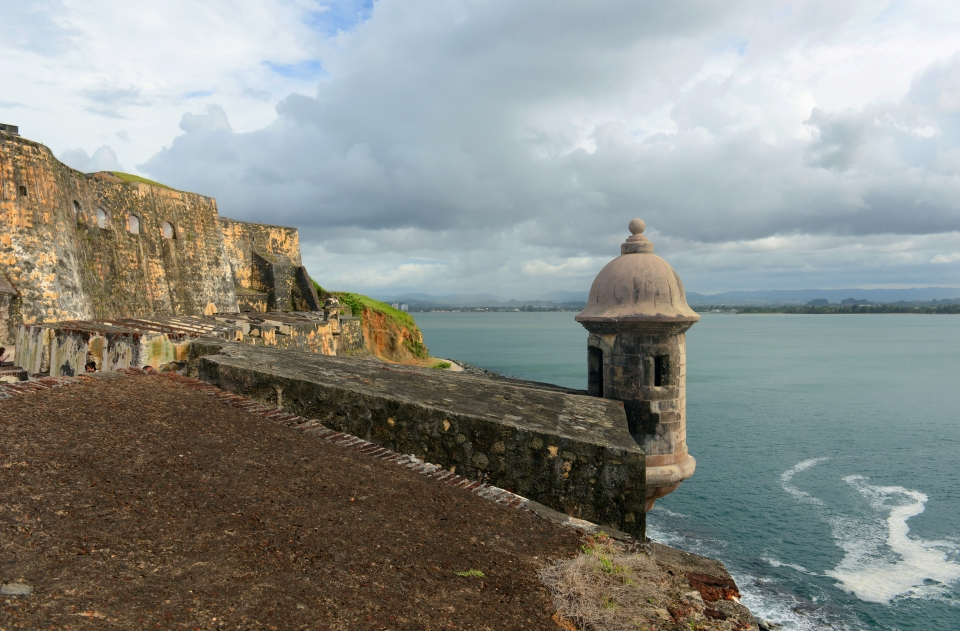 Sentry boxes at San Juan National Historic Site