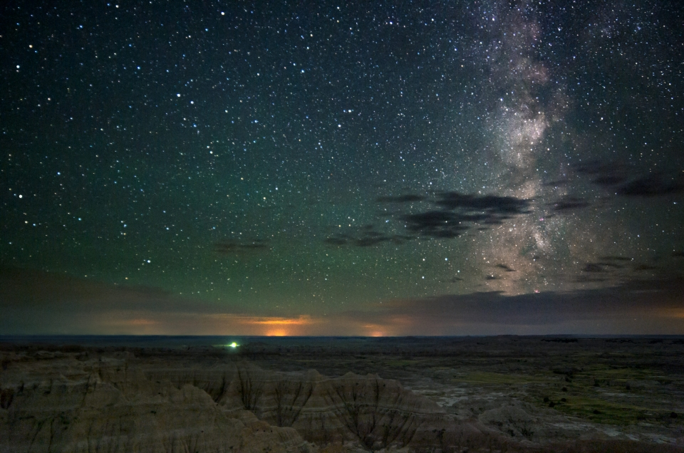 Milky Way over Badlands National Park