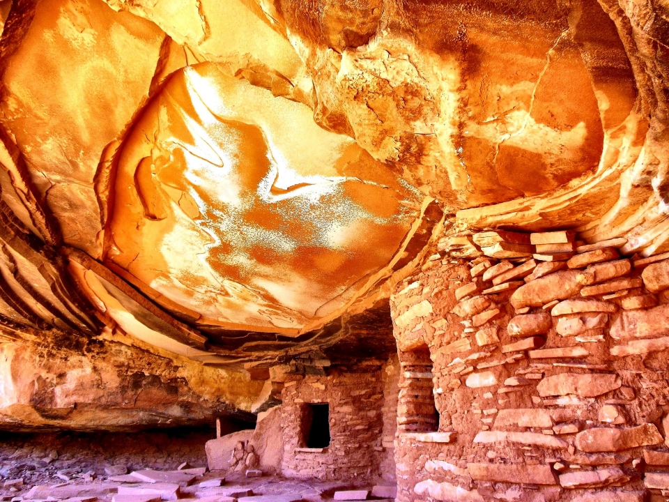 Historical & Cultural Winner, image of red cave interior at Cedar Mesa