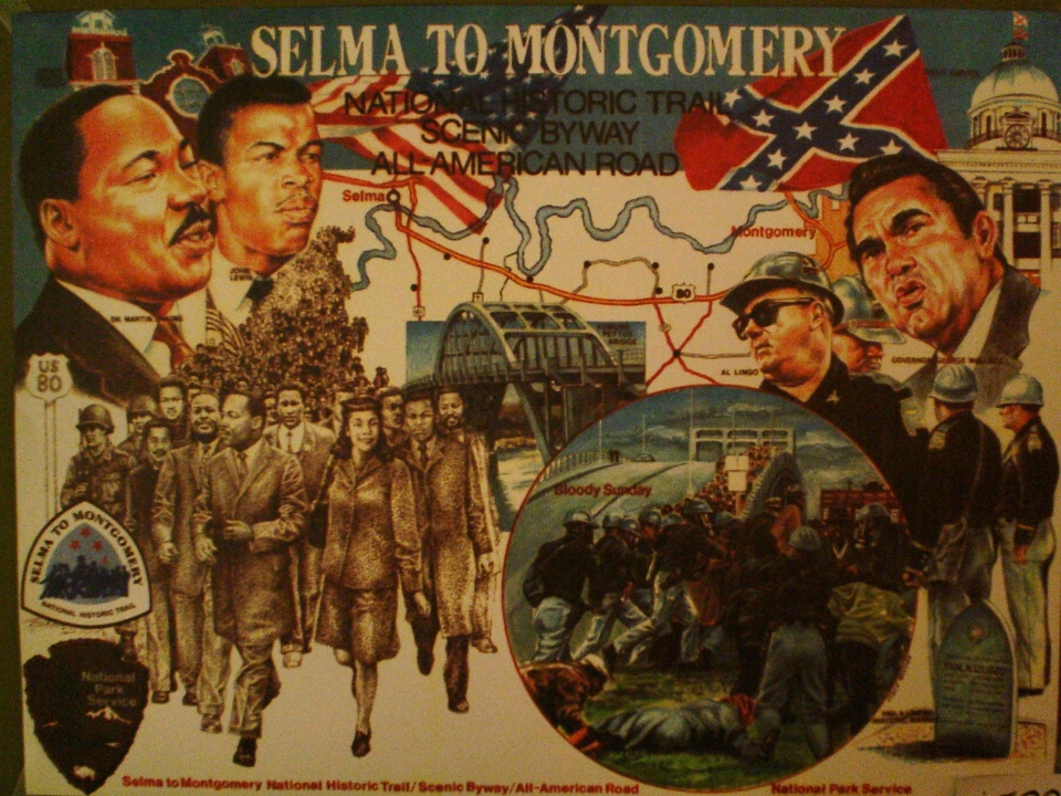 Vintage poster for the Selma to Montgomery National Historic Trail