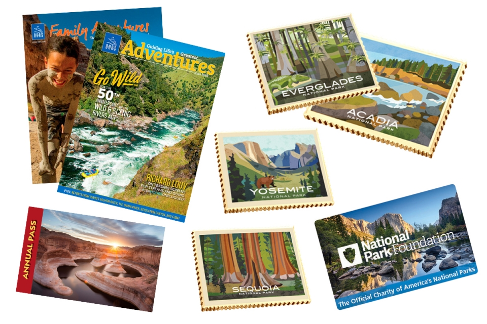collage of various National Park Foudation and National Park Service products for the gift guide