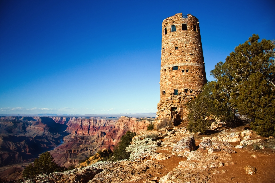 Desert View Watchtower at Grand Canyon National Park