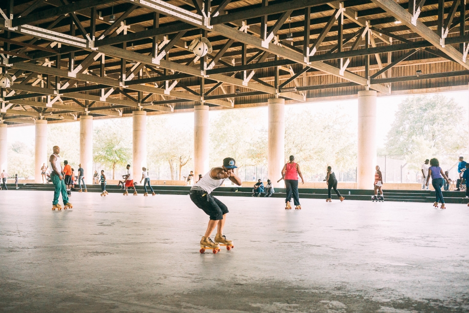 Roller skating at Anacostia Park