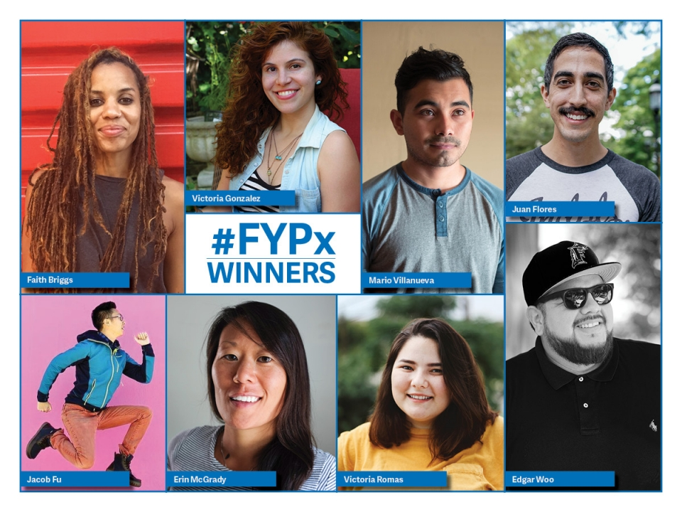 Collage of #FYPx winners