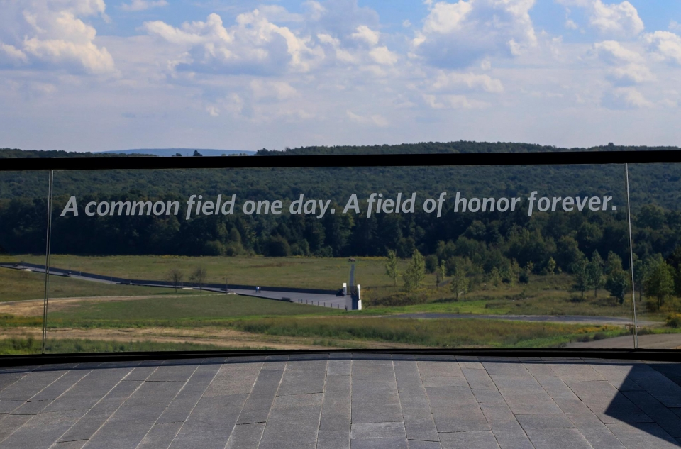 """A common field one day. A field of honor forever."""