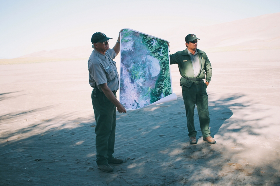 Two Rangers with Map