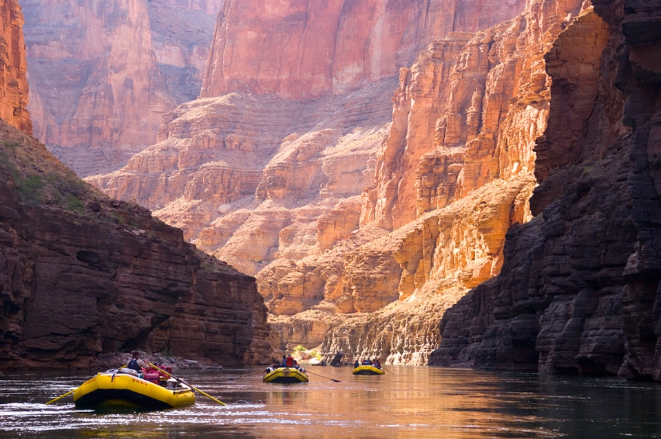Whitewater rafters on the Colorado River in the Grand Canyon