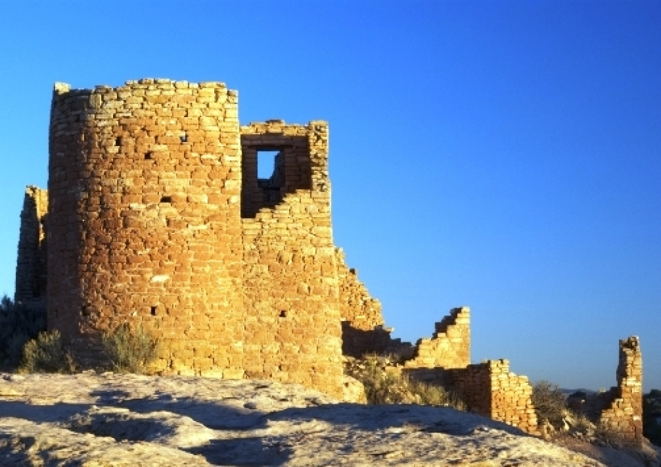 Rock ruins at Hovenweep National Monument