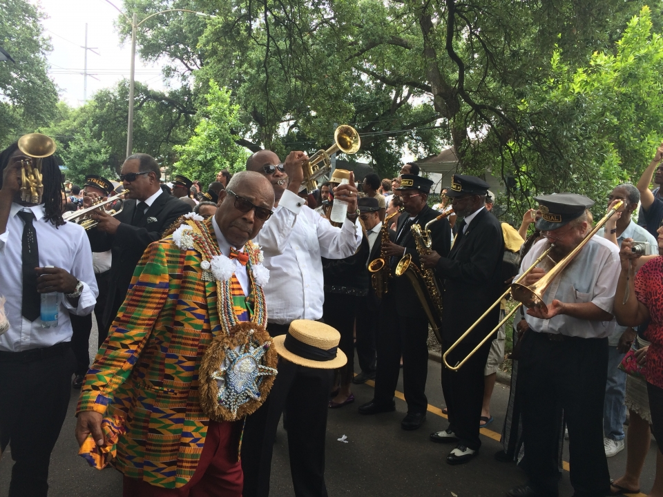 New Orleans jazz band on the street