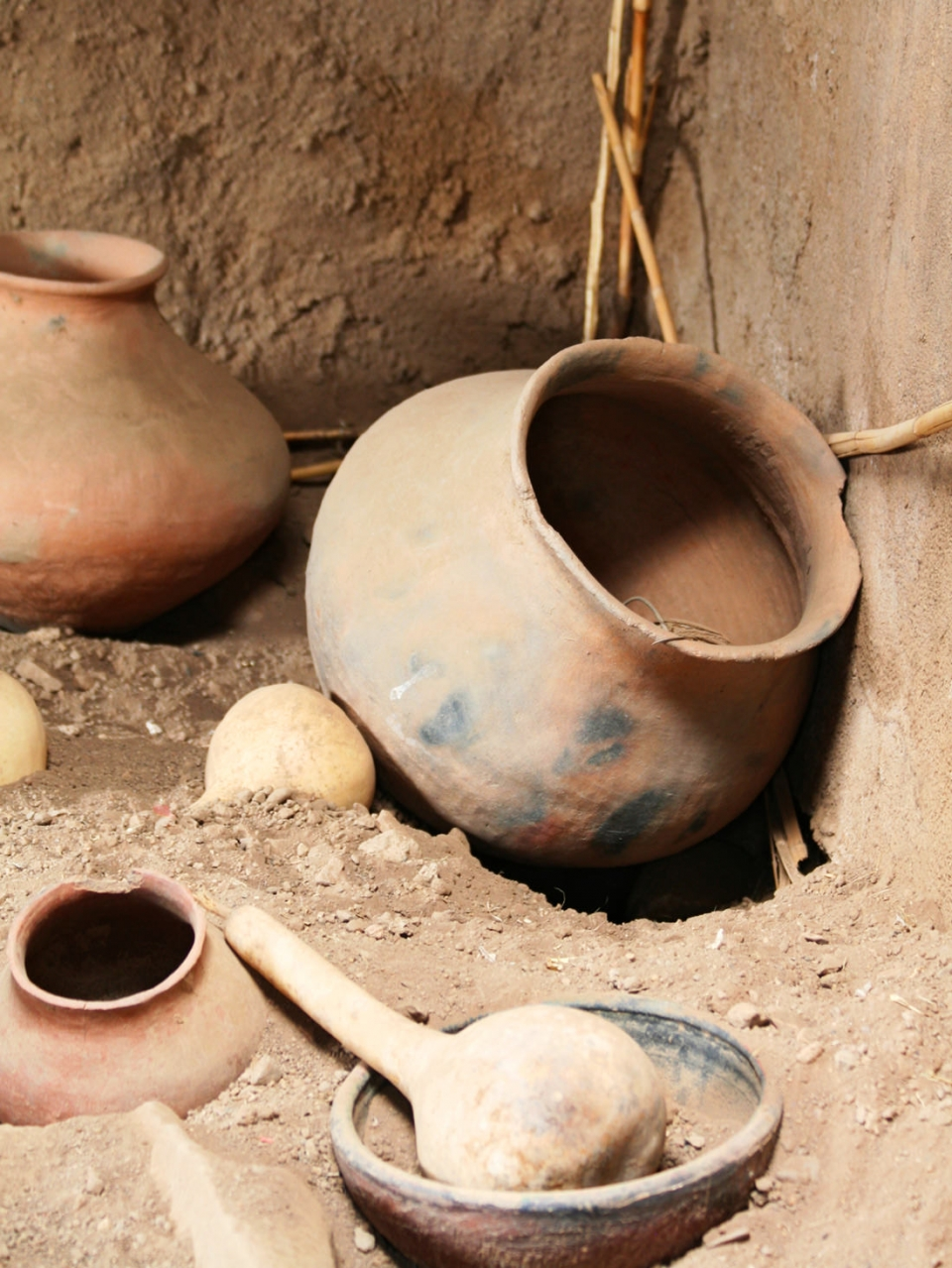 Historic pots from Mesa Verde