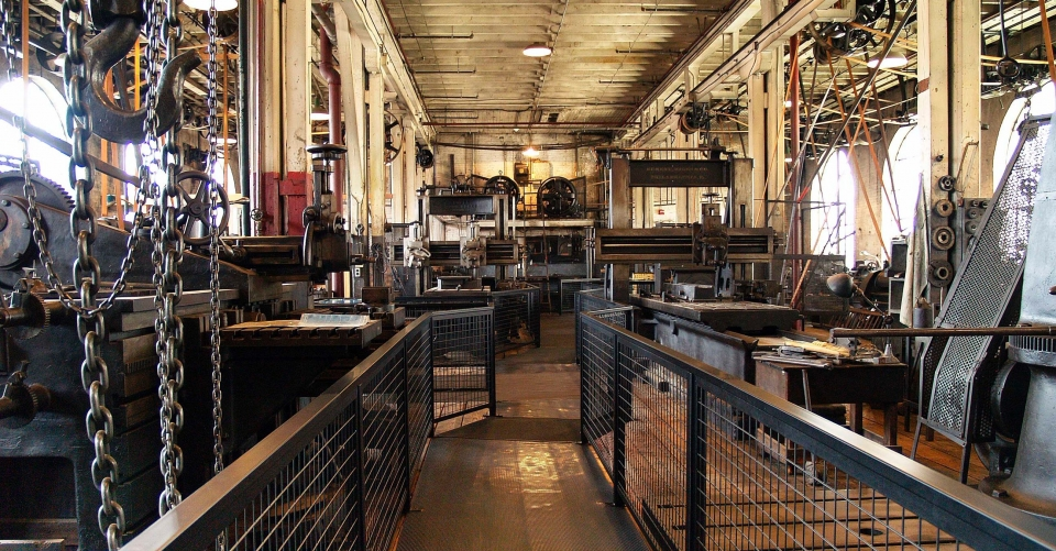 Machines in the museum of Thomas Edison National Historical Site