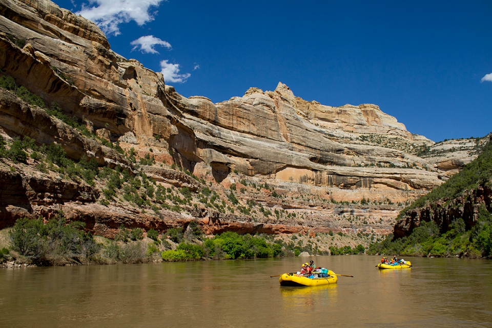 River rafters on the Yampa River in Dinosaur National Monument