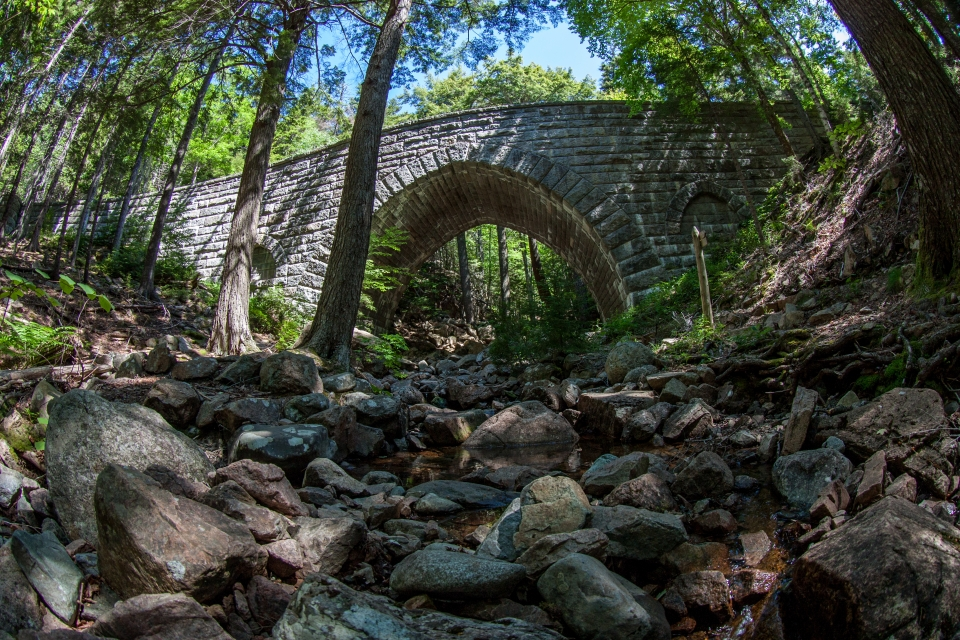 Bridge on Carriage Road at Acadia National Park