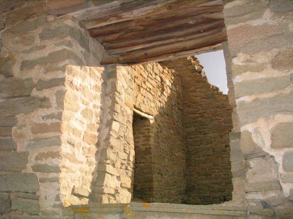 Stone opening at Aztec Ruins National Monument
