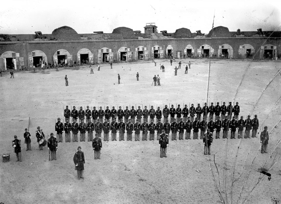 Baseball game at Fort Pulaski in 1862.