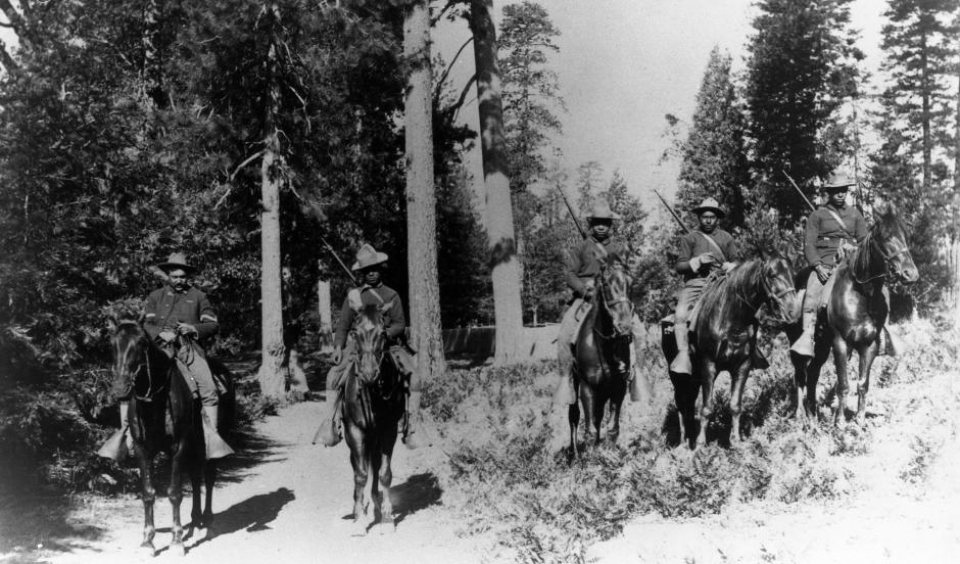 Buffalo soldiers at Yosemite National Park