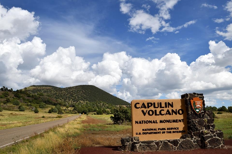 Park Entrance sign to Capulin Volcano National Monument