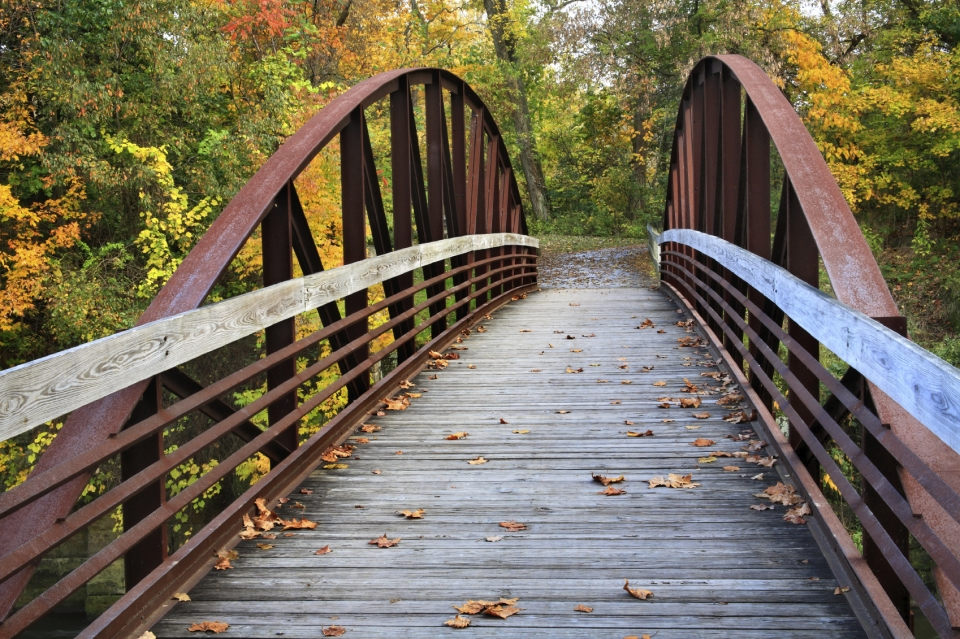 Wooden bridge at Cuyahoga Valley National Park