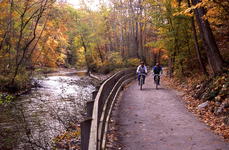 Bikers on the Towpath Trail at Cuyahoga Valley National Park