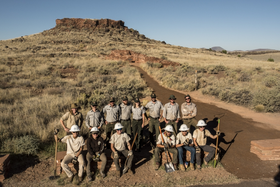 Conservation Crew at Wupatki National Monument