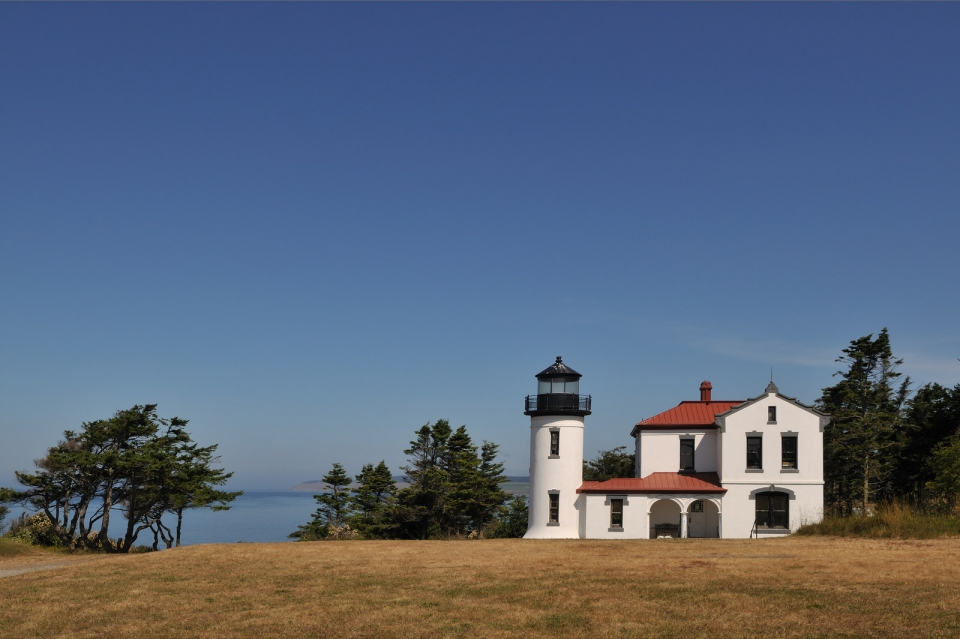 White Admiralty Head Lighthouse at Ebey's Landing National Historical Reserve