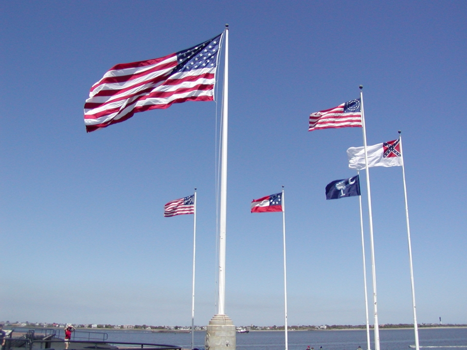 Fort Sumter National Monument historic flags