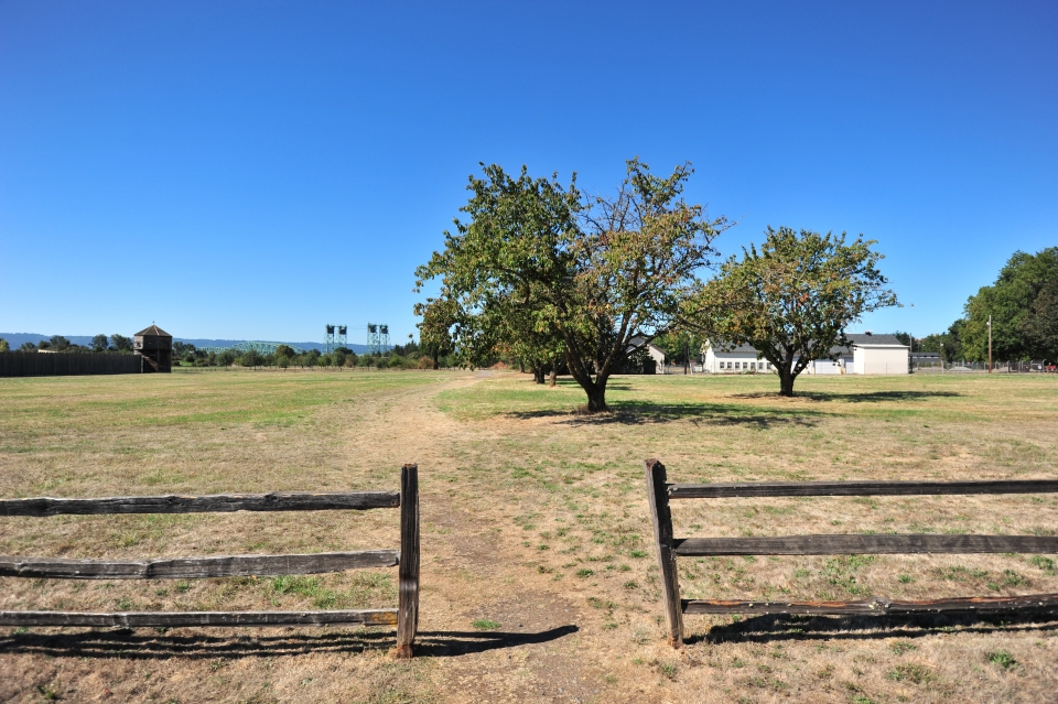Trail to orchard at Fort Vancouver National Historic Site