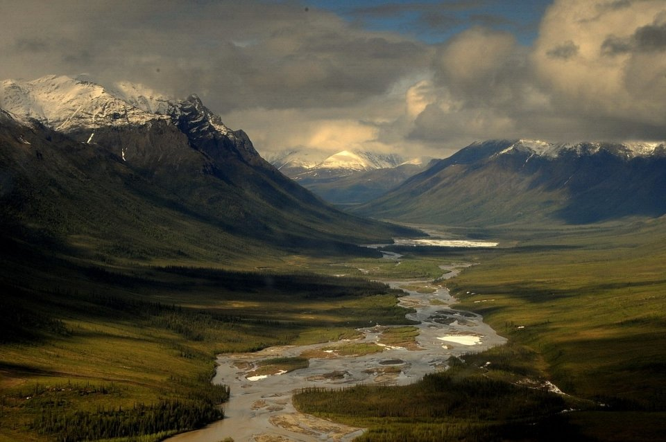 The north fork of the Koyukuk River in the valley at Gates of the Aractic National Park & Preserve
