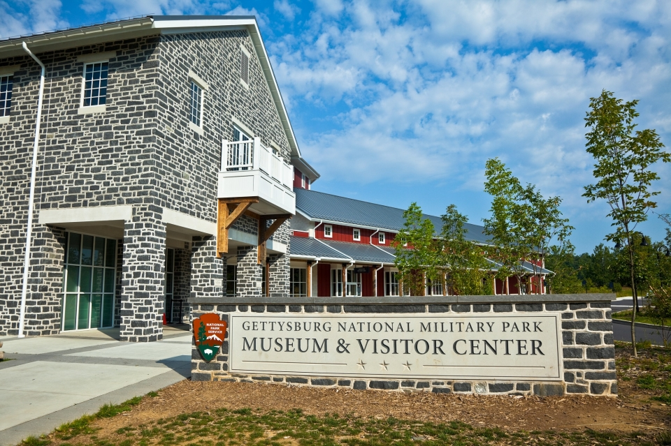 Exterior of Gettysburg NMP's new visitor center
