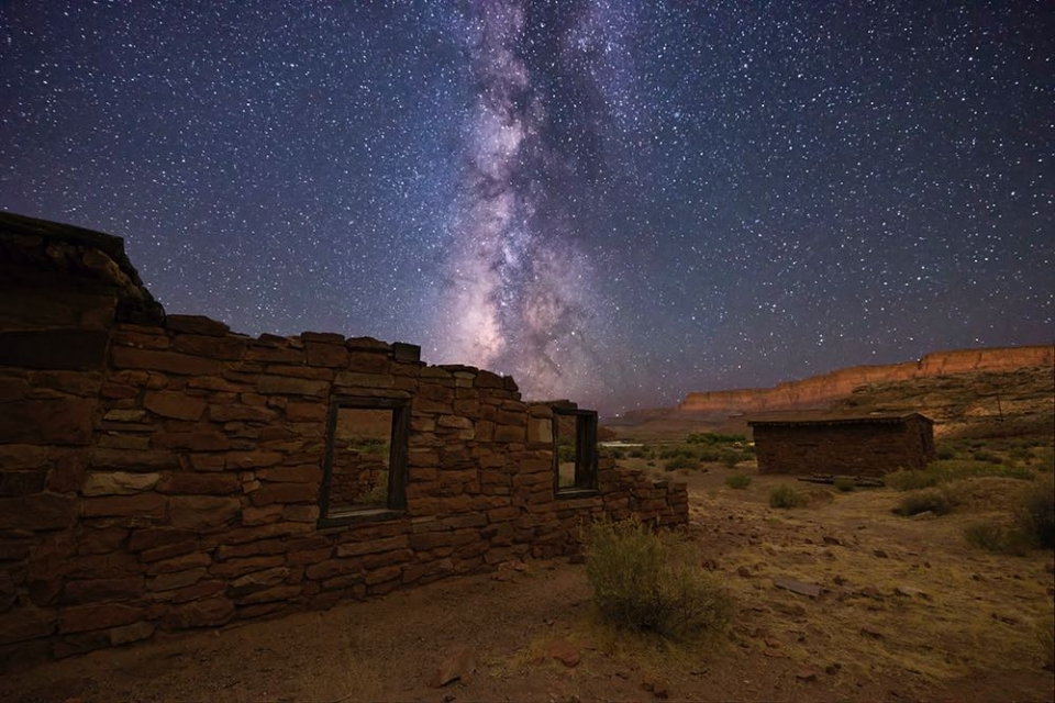 Milky Way night sky over Glen Canyon National Recreation Area