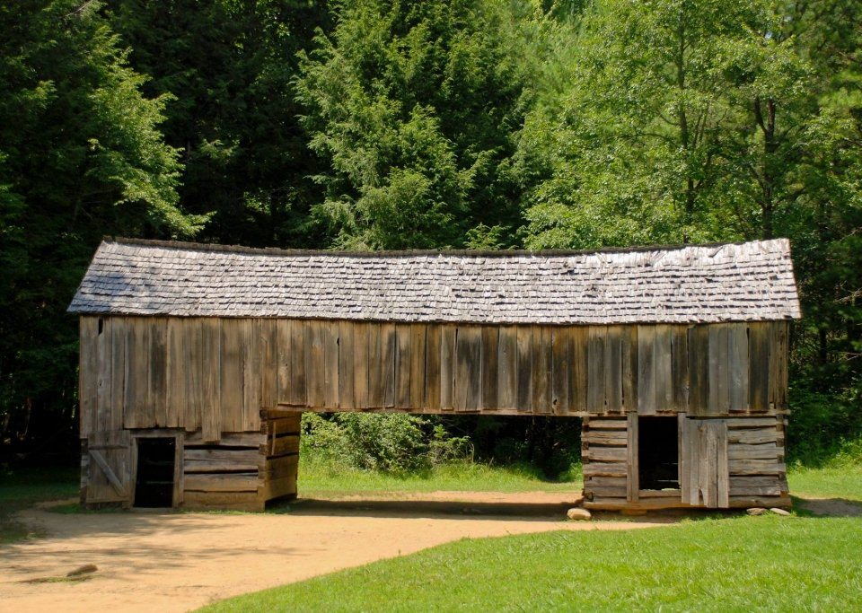 Wooden Cable Mill Barn at Great Smoky Mountains National Park