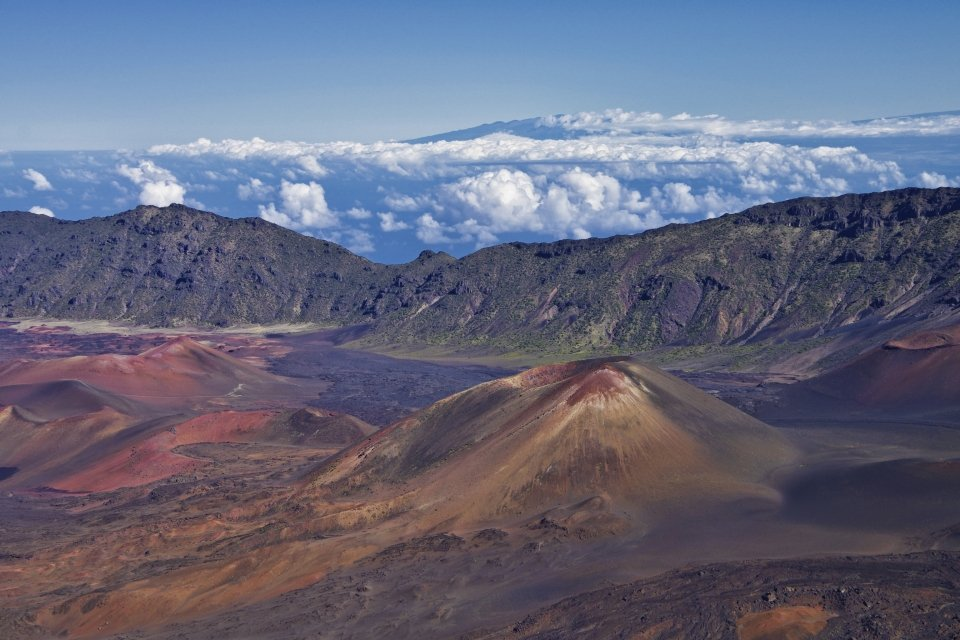 View of the landscape of Haleakalā National Park