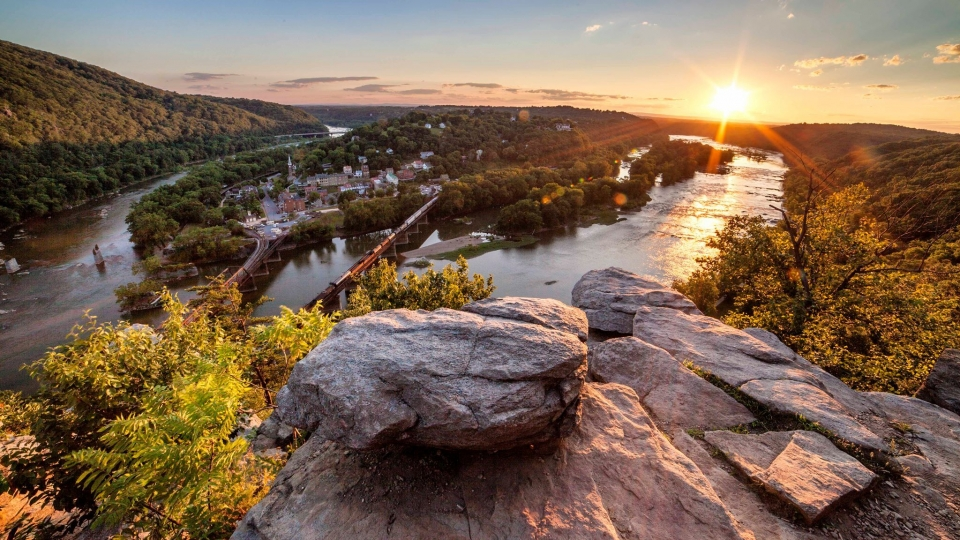 Aerial view of Harpers Ferry National Historical Park